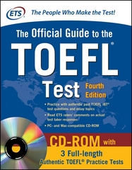 Official Guide to the TOEFL Test With CD-ROM, 4th Edition 4th Edition 9780071766586 0071766588