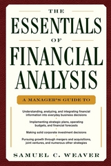 The Essentials of Financial Analysis 1st edition 9780071768368 007176836X