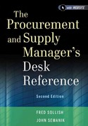 The Procurement and Supply Manager's Desk Reference 2nd Edition 9781118130094 111813009X