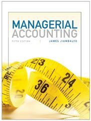 Managerial Accounting 5th Edition 9781118560549 111856054X