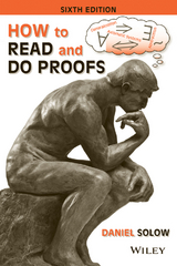 How to Read and Do Proofs 6th Edition 9781118164020 1118164024