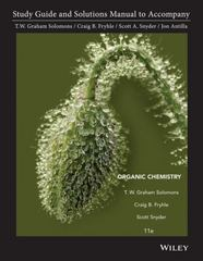 Student Study Guide and Student Solutions Manual to accompany Organic Chemistry 11th edition 9781118147900 1118147901
