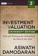 Investment Valuation 3rd edition 9781118130735 1118130731