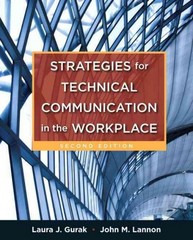 Strategies for Technical Communication in the Workplace 2nd Edition 9780205245529 0205245528