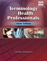 Terminology for Health Professionals 6th Edition 9781111781071 1111781079