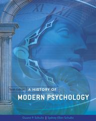 A History of Modern Psychology 10th Edition 9781133316244 1133316247