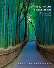 Stress, Health and WellBeing 1st Edition 9781111831615 1111831610