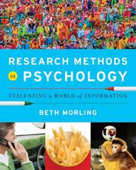 Research Methods in Psychology 1st Edition 9780393935462 0393935469