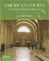 American Courts and the Judicial Process 1st Edition 9780199738854 0199738858