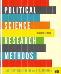 Political Science Research Methods 7th Edition 9781608716890 1608716899