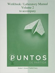 Workbook/Laboratory Manual Vol 2 for Puntos de Partida: An Invitation to Spanish 9th edition 9780077511708 0077511700