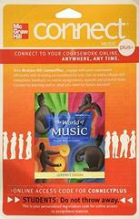 Connect Access Card for World of Music 7th Edition 9780077540470 0077540476