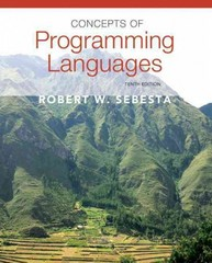 Concepts of Programming Languages 10th edition 9780131395312 0131395319