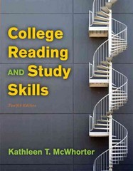 College Reading and Study Skills 12th Edition 9780205213023 0205213022