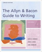 The Allyn and Bacon Guide to Writing 4th edition 9780321291523 0321291522