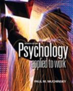 Psychology Applied to Work 7th edition 9780534596255 0534596258