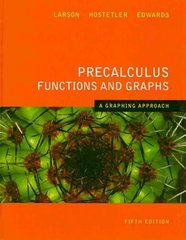 Precalculus Functions and Graphs 5th edition 9780618851508 061885150X