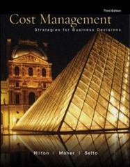 Cost Management:  Strategies for Business Decisions 3rd edition 9780072830088 0072830085