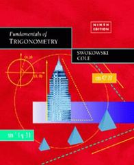 Fundamentals of Trigonometry 9th Edition 9780534361280 0534361285