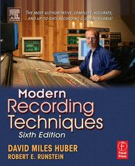 Modern Recording Techniques 6th Edition 9780240806259 0240806255