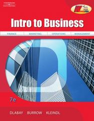 Intro to Business 7th edition 9780538445610 0538445610