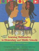 Learning Mathematics in Elementary and Middle Schools 4th Edition 9780131700598 0131700596