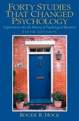 Forty Studies that Changed Psychology 5th edition 9780131147294 0131147293