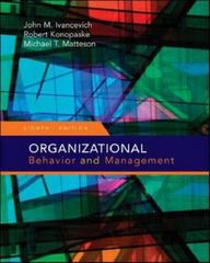 Organizational Behavior and Management 8th edition 9780073405087 0073405086