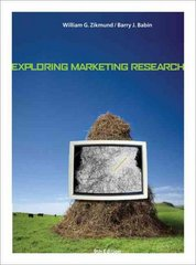Exploring Marketing Research 9th Edition 9780324320886 0324320884