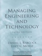 Managing Engineering and Technology 3rd edition 9780130619785 0130619787