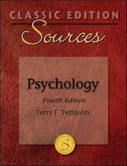 Classic Edition Sources: Psychology 4th Edition 9780073404042 0073404047