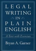 Legal Writing in Plain English 1st edition 9780226284187 0226284182