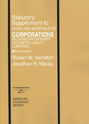 Corporations, Statutory Supplement to Cases and Materials 10th edition 9780314183729 0314183728