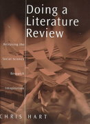 Doing a Literature Review 1st Edition 9780761959755 0761959750