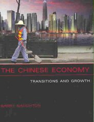 The Chinese Economy 1st Edition 9780262640640 0262640643