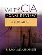 Wiley CIA Exam Review, Volumes 1-4 Set 3rd edition 9780471718833 0471718831