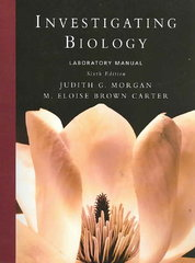 Investigating Biology Lab Manual 6th edition 9780321536600 0321536606