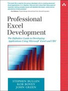 Professional Excel Development 1st edition 9780321262509 0321262506