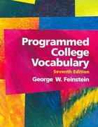Programmed College Vocabulary 7th Edition 9780131487666 0131487663