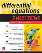 Differential Equations Demystified 1st edition 9780071440257 0071440259
