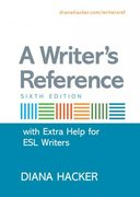 A Writer's Reference with Extra Help for ESL Writers 6th edition 9780312471668 0312471661