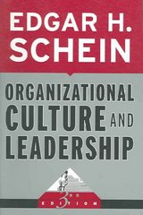 Organizational Culture and Leadership 3rd edition 9780787975975 0787975974