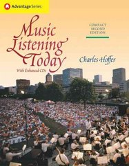 Cengage Advantage Books: Music Listening Today, Compact Edition (with Enhanced CDs) 2nd edition 9780534516154 0534516157
