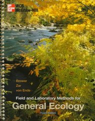 Field and Laboratory Methods for General Ecology 4th edition 9780697243584 0697243583