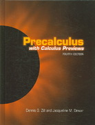 Precalculus With Calculus Previews 4th edition 9780763737795 0763737798