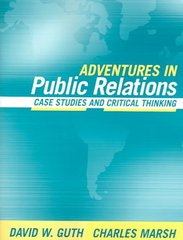 Adventures in Public Relations 1st Edition 9780205405701 0205405703