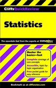 CliffsQuickReview Statistics 1st edition 9780764563881 0764563882