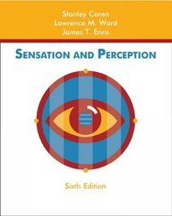 Sensation and Perception 6th Edition 9780471272557 0471272558