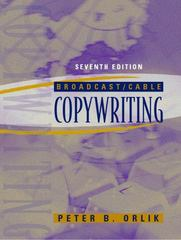 Broadcast/Cable Copywriting 7th Edition 9780205393244 0205393241