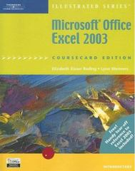 Microsoft Office Excel 2003, Illustrated Introductory, CourseCard Edition 1st edition 9781418842956 1418842958